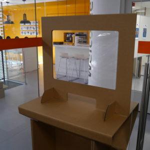 Anderhalve-meter-afstand Producten -Tijdelijke werkplek - Scherm loket/afhaalbalie