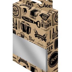 Geschenkverpakking voor 3 bierflesjes met bijpassende bedrukking