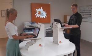Anderhalve-meter-afstand Producten -Tijdelijke werkplek laptop verhoger